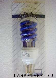 No-Name (South Africa) 220/240v 11 watt Energy Saving Blue Spiral Lamp with BC Cap