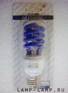 No-Name (South Africa) 220/240v 11 watt Energy Saving Blue Spiral Lamp with ES Cap