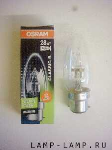 Osram 240v 28w Energy Saver Halogen Candle Lamp with BC Cap