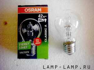 Osram 240v 42w Energy Saver Halogen Lamp with ES Cap
