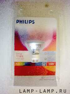 Philips 230/240v 1.5w Multicolour Deco-Colour Changing LED GU10 Lamp